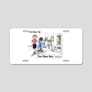 Hair Dresser, Female Aluminum License Plate